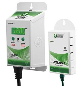 TITAN CONTROLS Atlas® 1 CO2 Monitor/Controller comes with a 25 ft remote sensor. It features adjustable set point and elevation levels, a built-in self calibration function and an integrated photocell that enables operation in daytime hours only, when the plants need CO