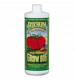 FOX FARM Grow Big® is a stable, highly concentrated, comprehensive blend of major, minor and micro nutrients formulated to promote spectacular balanced growth, instant green-up and color intensity of blossoms. Grow Big® will enhance plant size and structure of all