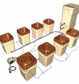 GENERAL HYDROPONICS General Hydroponics WaterFarm Controller Kit -Terra Cotta (Kit of 8 Farms & Controller)