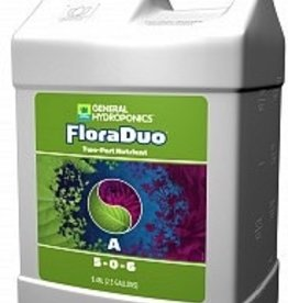 GENERAL HYDROPONICS FloraDuo is a two-part nutrient that's teeming with diverse and high-quality components, as well as special bio-activators that improve overall plant health and promote nutrient absorption. In addition to their high pedigree, the unique formulation of Flo