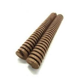 "LD CARLSON INFUSION OAK SPIRAL - FRENCH LIGHT TOAST 8"" 2/PK"