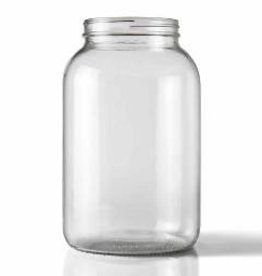 LD CARLSON WIDE MOUTH CLEAR ONE GALLON GLASS JUG with lid