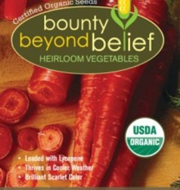 BBB SEEDS Carrot, Organic Atomic Red