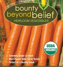 BBB SEEDS Carrot, Organic Little Finger Baby