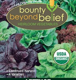 BBB SEEDS LETTUCE, Organic All Season Sampler Blend