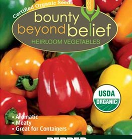 BBB SEEDS Pepper, Organic Mini Bell Pepper Blend