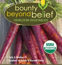BBB SEEDS Carrot, Organic Cosmic Purple