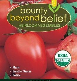 BBB SEEDS Tomato, Organic Amish Paste