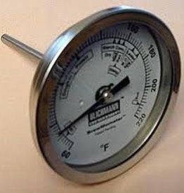 "LD CARLSON BREWMOMETER STAINLESS BI-METAL THERMOMETER "" DIAL (1/2""NPT)"