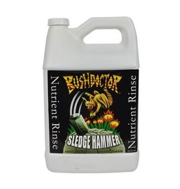 FOX FARM Bush Doctor® Sledgehammer® is a unique rinse formula designed to remove excess fertilizer build up. High fertilizer use can compromise plant growth over time due to concentrated mineral salt deposits. Sledgehammer® encourages water movement through soil a