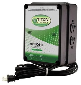 TITAN CONTROLS This controller will run four (4) HID lights at 240 Volts. The only lighting controllers featuring industrial-grade ballast rated relays. Plug relay trigger cord into 24 hour wall timer to run your lights. Universal outlets allow total flexibility. Plasti