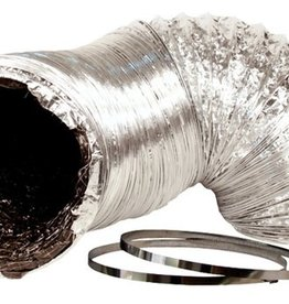 IDEAL-AIR 12 IN X 25FT SILVER/BLK DUCTING