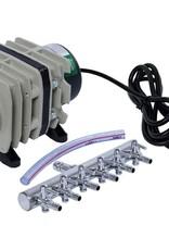 ACTIVE AQUA Active Aqua Commercial Air Pump, 6 Outlets, 20W, 45 L/min