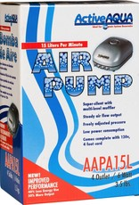 ACTIVE AIR This air pump with 4 Outlets is super silent with multi-level muffler and low power consumption. Special artificial rubber to keep a steady air flow output and pressure that can be adjusted freely. 1 Year warranty. 6 Watts, 15 liters per minute. 120V. 240