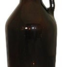 LD CARLSON AMBER 1/2 GALLON GLASS JUG 6/CASE