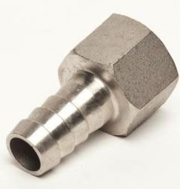 "LD CARLSON STAINLESS STEEL 1/2"" BARBED HOSE FITTING - 1/2"" FEMALE NPT"