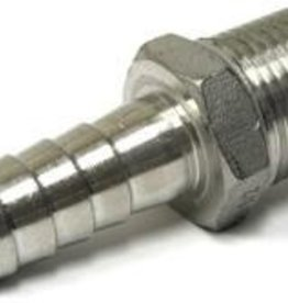 "LD CARLSON STAINLESS STEEL 3/8"" BARBED HOSE FITTING - 1/2"" MALE NPT"