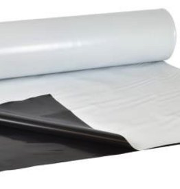 SUNFILM Waterproof poly film that is black on one side and white on the other can be used for growing areas. Sunfilm® Panda Film works well as a reflective film (reflects 90% of the light back to the growing area) or as a room partition. This is a very heavy duty