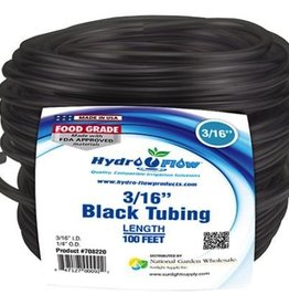 HYDRO FLOW Hydro Flow Vinyl Tubing Black 3/16 in ID - 1/4 in OD 100 ft Roll