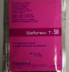FERMENTIS SAFBREW T-58 DRY BREWING YEAST 11.5 GRAMS
