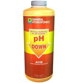GENERAL HYDROPONICS The Acid formulation uses food grade Phosphoric acid to lower the pH to the proper level.<br /><br />This powdered acid formula is easy to handle and ship. Lightweight in comparison to liquids. Widely recognized as a consistent and reliable product.