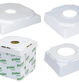GRODAN The CubeCap® is one of the first environmentally safe solutions available. In addition, you are able to recycle and reuse the CubeCap® thus saving on costs. The CubeCap® deprives the cube of its light by reflecting it back up towards the plant and away fr