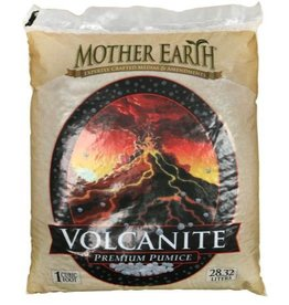 MOTHER EARTH Mother Earth® Volcanite™ Premium Pumice is a great soil amendment or can also be used as a stand-alone growing medium. It is derived from a volcanic origin and has a neutral pH. Its porous structure enhances drainage and encourages gas exchange to increas