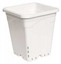 "HYDROFARM 9"" x 9"" Square White Pot, 10"""