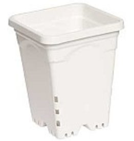 HYDROFARM 6 x 6 Square White Pot  8 tall
