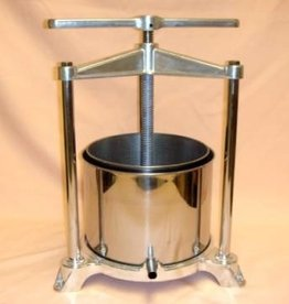 LD CARLSON 20 x 17 cm Stainless steel press for pressing grapes and other fruits, compact design will fit on your counter top, 10# capacity, great for home made jelly and juice makers.