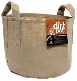 HYDROFARM Dirt Pot Flexible Portable Planter, Tan, 300 Gallon, with handles