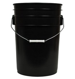 BWGS Black Bucket w/ Handle, 6 gal
