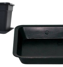 SUNLIGHT SUPPLY Black Square Saucer for 2 Gallon Pot