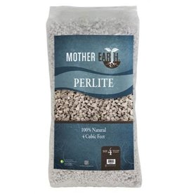 MOTHER EARTH Mother Earth® Perlite is naturally occurring siliceous rock that when heated to 1600° F expands up to 20 times its original volume. This kilning process is very similar to popping popcorn and produces a growing media that is sterile and has a neutral pH o