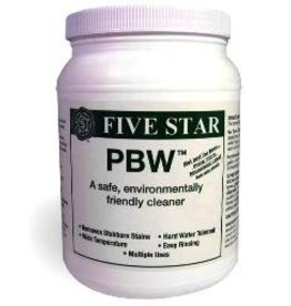 FIVE STAR FIVE STAR CLEANING PRODUCTS - Five Star Products and Services is the leader in the development of cleaning and sanitizing products for the brewing industry. Now you can clean without scrubbing and sanitize without rinsing. IMPORTANT NOTICE - Five Star pro
