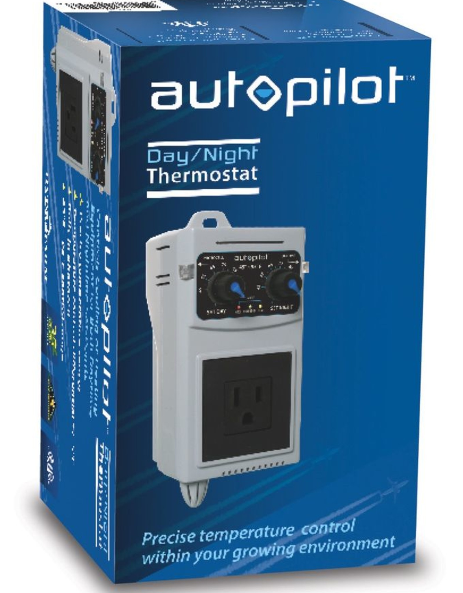 AUTOPILOT Analog 24hr Day & Night Cooling/Heating Thermometer