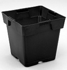 "HYDROFARM Black Planter 5 1/2"" Square x 5 1/2"" Tall"