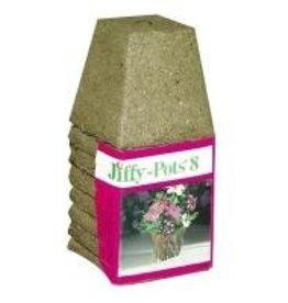 """JIFFY Jiffy Peat Pot 3"""" Square, 8 Pack"""