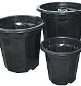 HYDROFARM Black Plastic Planter 3QT