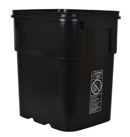 EZ STORE Heavy-duty EZ Store™ containers/buckets are rectangular in shape and are made with virgin, high density polyethylene material. These patented containers have no holes in them and can hold up to 8 or 13 gallons of liquid. They work well for mixing solution