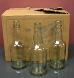 LD CARLSON 16 OZ CLEAR E.Z. CAP BOTTLES WITH SMOOTH SIDES 12/CASE