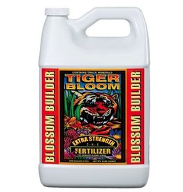 FOX FARM Fast-acting Tiger Bloom® Liquid Plant Food (2-8-4) is an ultra-potent, fast-acting, high-phosphorus fertilizer that also contains a good supply of nitrogen for growth and vigor. It is formulated with a low pH to maintain stability in storage and keep micr