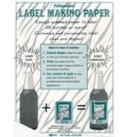 LD CARLSON WHITE LABEL-MAKING PAPER PK/18
