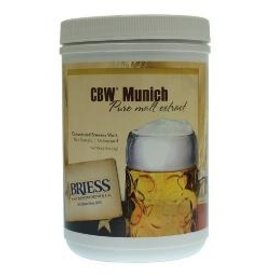 "BRIESS BRIESS MALT EXTRACT (UNITED STATES) - Concentrated Brewers Wort (CBW) that has been ""gently heated"" to pasteurize the malt. Packed in 3.3 lb. plastic canisters, 12 per case. Shelf life is good, but prolonged storage is not recommended. Priced per canister"