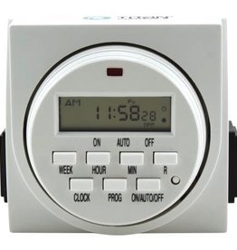 TITAN CONTROLS The Apollo 9 - 24 hour digital timer is the perfect timing solution for your hydro systems. With two outlets and a 15 Amp capacity, it's easy to set to run your pumps, fans, etc. The Apollo 9 may be set to 1 minute intervals and run 8 separate schedules p