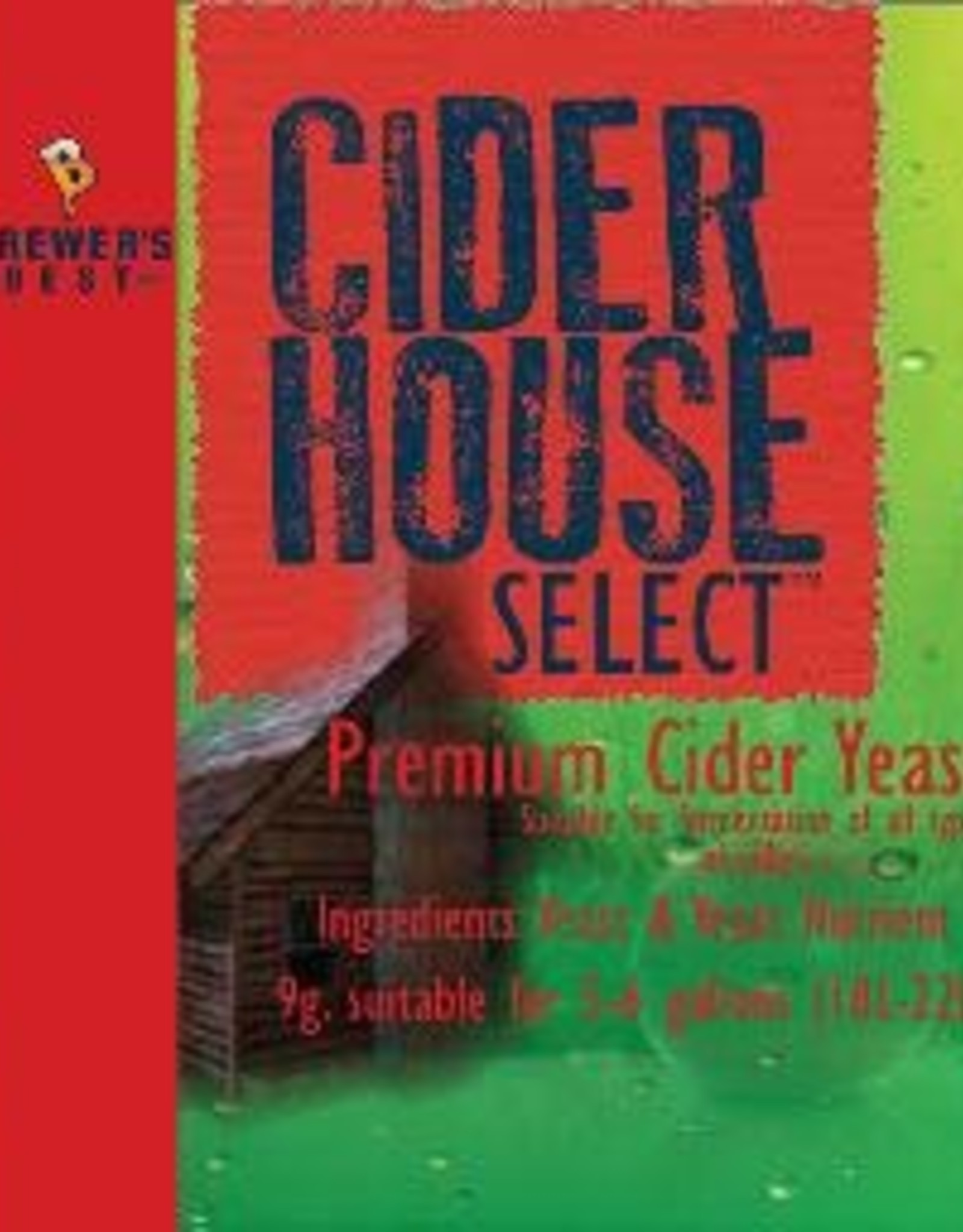 BREWERS BEST Cider House Select yeast is a high ester-producing strain, creating exceptional flavor. Trace nutrition has been included in this sachet to ensure the best possible cider quality through good healthy yeast. Our active dried yeast is suitable for all types