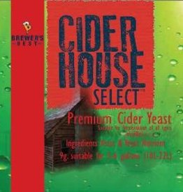 BREWERS BEST CIDER HOUSE SELECT CIDER YEAST SACHET 9 GRAMS
