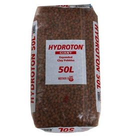 MOTHER EARTH The original Hydroton® brand expanded clay is a unique, lightweight expanded clay aggregate made in Germany. This natural clay is mined, formed into pellets, then kiln fired at high temperatures to cause the clay to expand into tough, lightweight balls. C