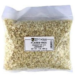 LD CARLSON FLAKED RICE 1 LB. BAG OF GRAIN