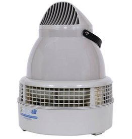 """IDEAL-AIR This excellent quality humidifier features a multi-directional fogging head. Measures 12.2"""" tall x 12.2"""" in diameter. Coverage is from 160-320 sq ft, depending on humidification requirements and ceiling height. Maximum output is 0.4 gallons per hour. Indu"""